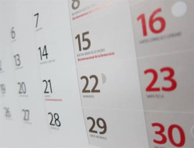 El calendario laboral para 2018 recoge 12 días festivos, 10 comunes en toda España 1