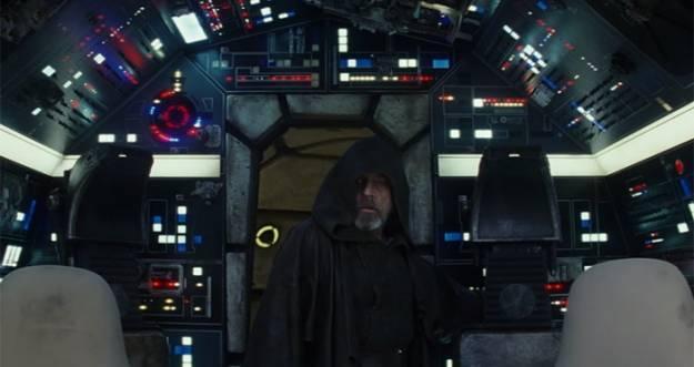 Luke Skywalker regresa al Halcón Milenario en un nuevo tráiler de 'Star Wars: los últimos Jedi'