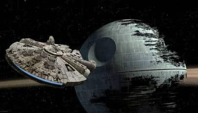 ¿Cuánto costaría construir la estrella de la muerte? ¿Y el halcón milenario?