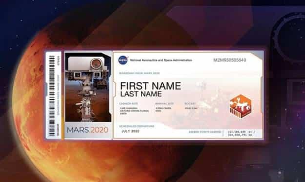 Ya puedes enviar tu nombre a Marte con la misión Mars 2020 de la NASA