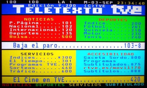 Hoy el Teletexto cumple 31 años y sigue funcionando