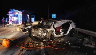 Un muerto y seis heridos en un accidente provocado por un kamikaze que iba a 200 Km/h en sentido contrario