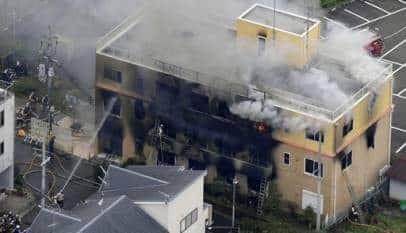 Al menos 24 muertos en un incendio intencionado en un estudio de 'anime' de Japón
