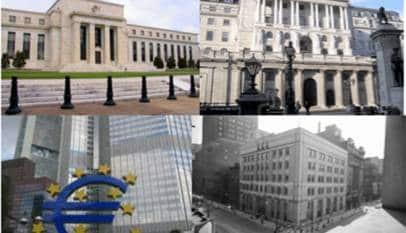 Los bancos centrales se mueven por el pánico a las bajas tasas de inflación