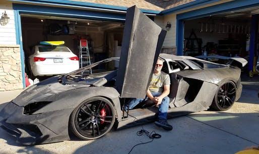 Un padre y su hijo crean Lamborghini con impresora 3D