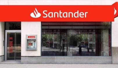 El Banco de Santander cierra hoy 200 oficinas