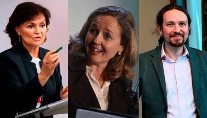 El nuevo gobierno tendría TRES vicepresidentes: Carmen Calvo, Nadia Calviño y Pablo Iglesias