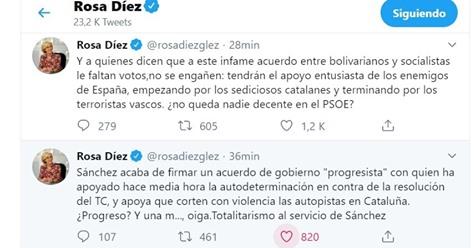 """Rosa Díez llama traidor y sinvergüenza a Sánchez por pactar con Iglesias: """"¿No queda nadie decente en el PSOE?"""""""