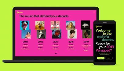 Spotify te muestra tus canciones más escuchadas en 2019 y en la década