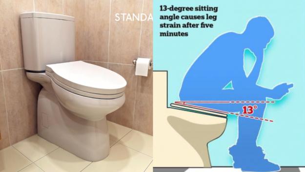 Crean un WC incómodo para que los trabajadores no pierdan el tiempo mirando el móvil 1