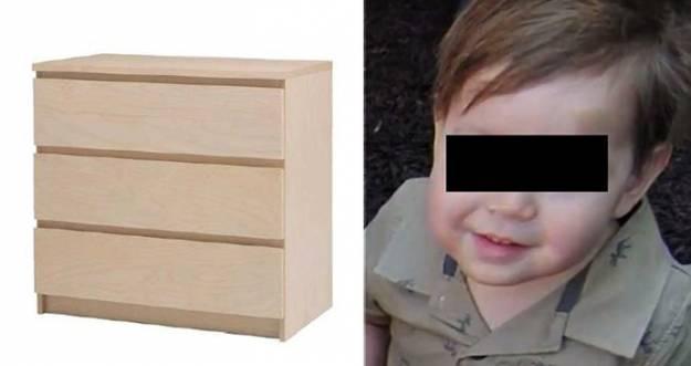 Ikea indemniza a una familia con 46 millones de dólares por la muerte de un niño de dos años aplastado una cómoda 1