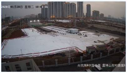 Puedes ver en streaming la construcción del hospital de Wuhan para afectados por el coronavirus