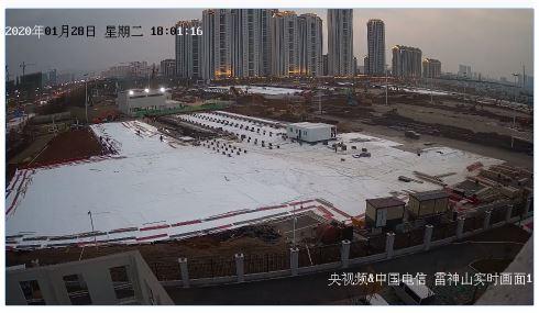 Puedes ver en streaming la construcción del hospital de Wuhan para afectados por el coronavirus 1