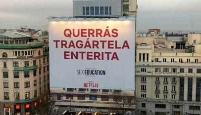 "La polémica publicidad de Netflix para ""Sex Education"""