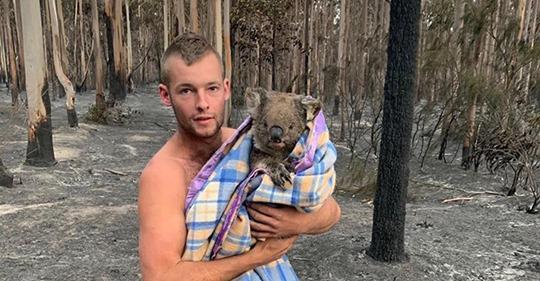 El giro en su vida por los incendios en Australia: de cazar animales a rescatar koalas 1