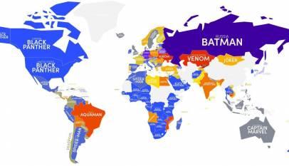 Estos son los superhéroes favoritos de cada país