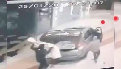 De película: Espectacular robo con alunizaje en el centro comercial Xanadú