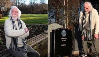 Un hombre descubre su propia tumba en un cementerio y sospecha de su ex mujer