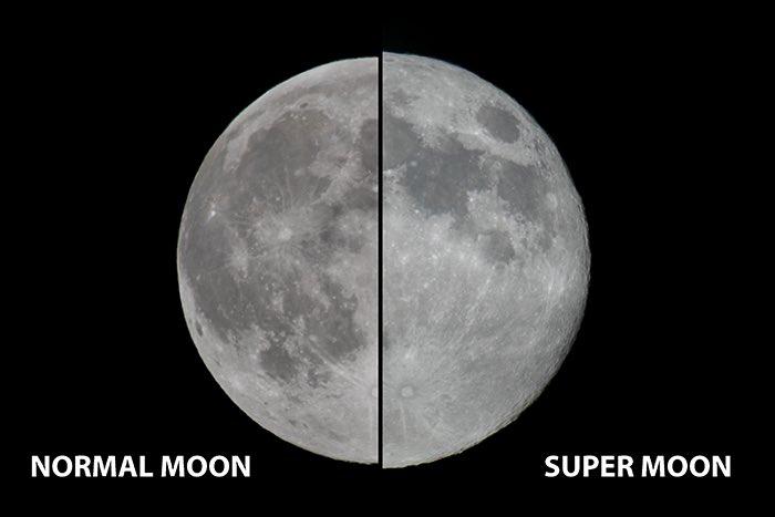 """Esta es la diferencia entre una luna normal y una """"superluna"""" 1"""
