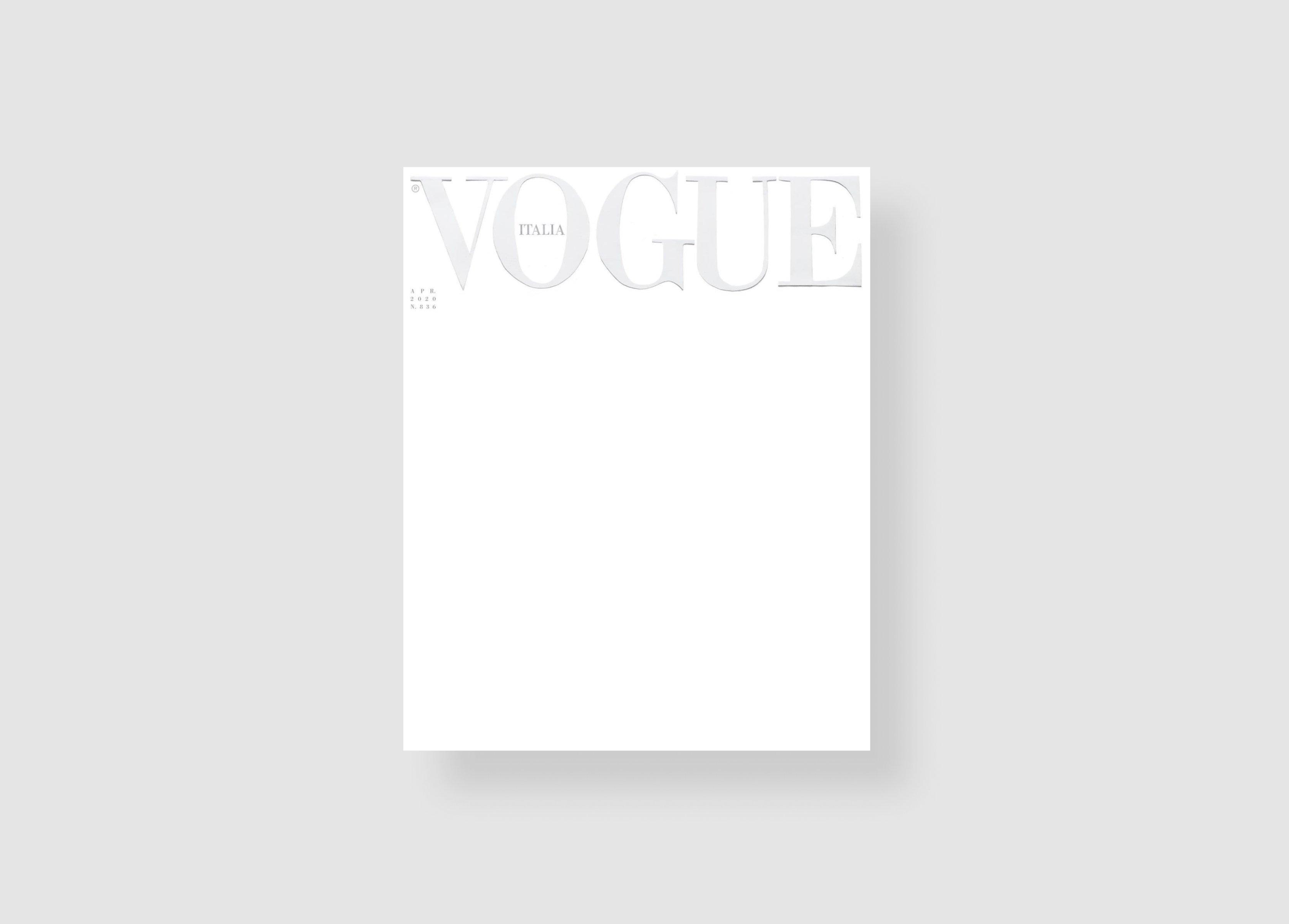 La portada de la revista Vogue en Italia 1