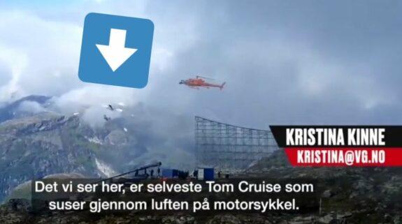 Flipante. Tom Cruise salta en moto al vacío y abre el paracaídas sin necesitar un doble. 1