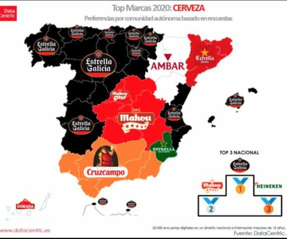 Mapa con la cerveza favorita de los españoles 1