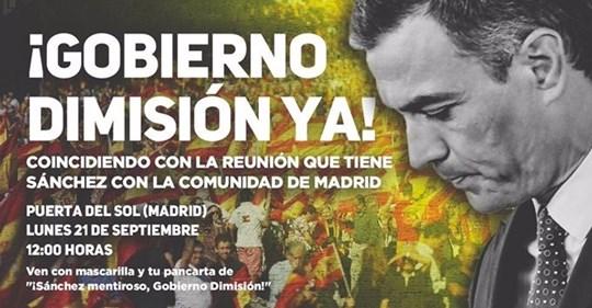 El sindicato de Vox convoca una concentración contra el Gobierno en la Puerta del Sol, a la hora de la reunión con Ayuso 1