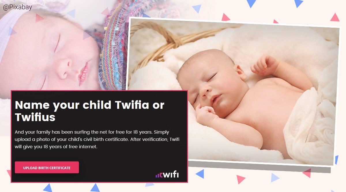 Ponen a su hija el nombre de un proveedor de Internet para ganar 18 años de conexión gratis 1