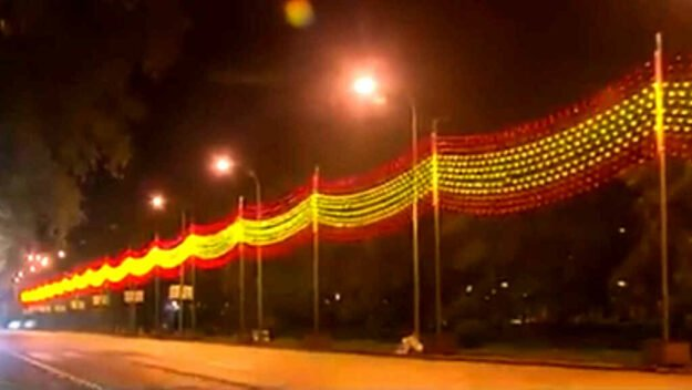 """El PSOE considera un """"esperpento patriótico"""" que Madrid incluya la bandera de España en las luces navideñas 1"""