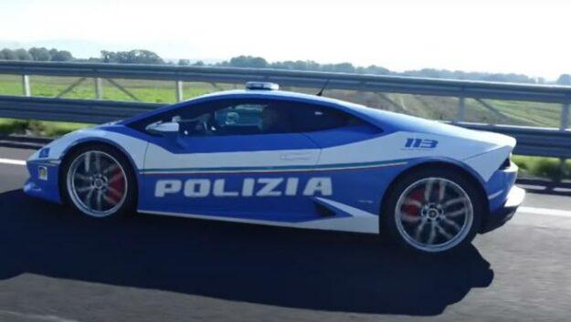 La policía italiana utilizó un Lamborghini Huracán LP 610-4 para transportar un riñón en un tiempo récord. 1