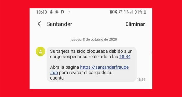 Ojo con este SMS del Banco de Santander 1