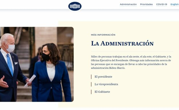 La Casa Blanca recupera el español en su página web 1