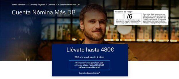 Ojo a esto, Deutsche Bank ofrece 480€ por domiciliar tu nómina. 1
