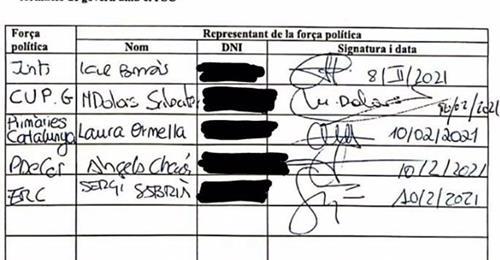 Los partidos independentistas firman un acuerdo por el no pactarán con el PSC 1