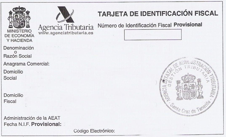 Código de Identificación Fiscal (CIF) 1