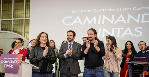 Díaz, Colau y Garzón arropan a Iglesias en Madrid 1